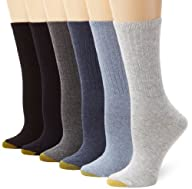 Gold Toe Women's 6-Pack Ribbed Crew S…