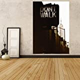 WM170 - New york city street photo wallpaper mural. Empire state building Self adhesive wallpaper