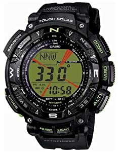 Casio Triple Sensor Solar Pathfinder Green Digital Resin Strap