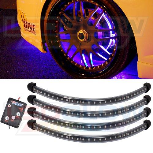 Purple Flexible Led Wheel Well Lighting Kit