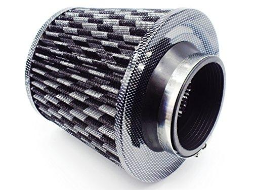 汎用 高性能 大排気量 エアクリーナー キノコ エアフィルター 赤 青 黒 76mm (黒)