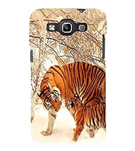 printtech Tiger Snow Strips Back Case Cover for Samsung Galaxy Quattro i8552::Samsung Galaxy Quattro Win i8552