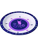 Lässig Dish Plate Melamine Deer viola Multicoloured