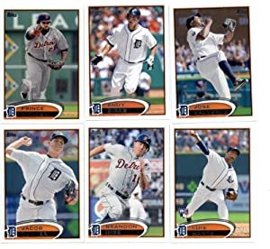 2012 Topps Detroit Tigers MLB Team Set (Series 1 & 2) 22 Cards - Includes... by 2012+Topps