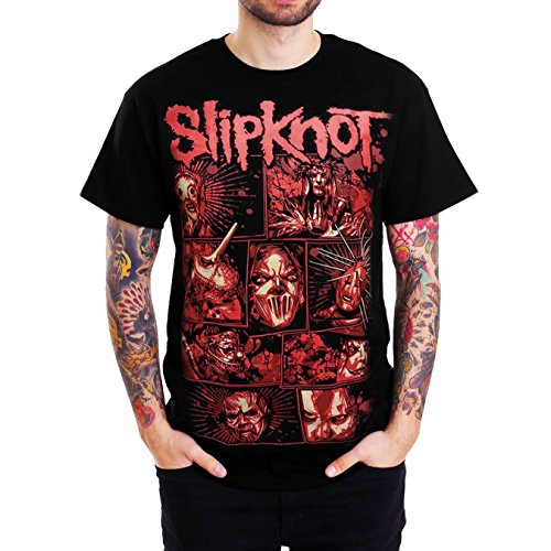 Slipknot Members Sketched Graphic Mens Black T Shirt (XX-Large (Chest 25