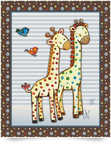 Giraffes - Two By Two (Giclee Art Print), Cheryl Burke back-784228