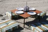 Folding Picnic Table Portable in Bag Camping Roll up Wooden Beach Outdoor Patio