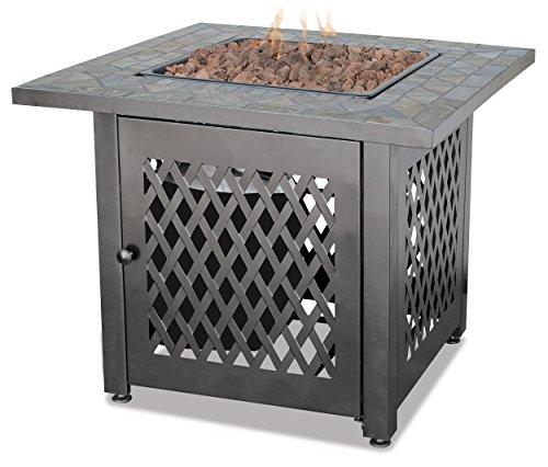 Blue Rhino Gas Outdoor Fireplace with Slate Mantel