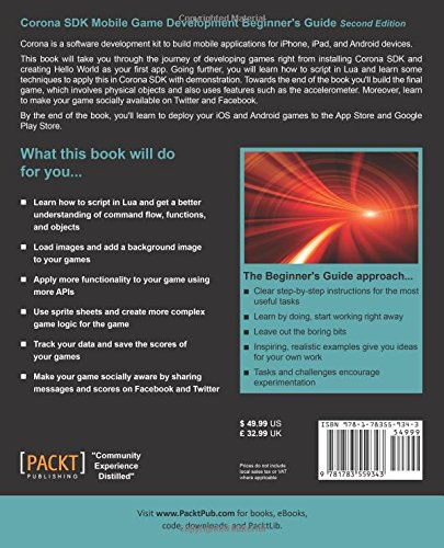 Corona SDK Mobile Game Development: Beginner's Guide - Second Edition