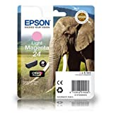 C13T24264010 Light Magenta Original Epson 24 Ink Cartridge (Elephant series) for Epson Expression Photo XP750 XP850
