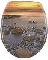Wenko 17612100 Abattant Stone Shore Couché de Soleil