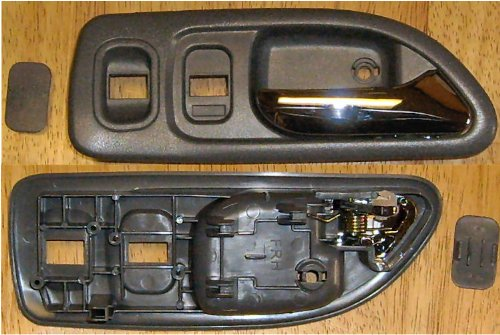 1994-1997 Honda Accord Right Side Front Only Dark Gray Inside Door Handle SEDAN, ALSO SAYS LX/EX/SE,W/POWER LOCKS, ,EXC DX/LX CANADA replaces OEM 72125SV4A02ZC