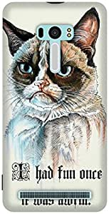 The Racoon Grip printed designer hard back mobile phone case cover for Asus Zenfone Selfie. (serious ca)