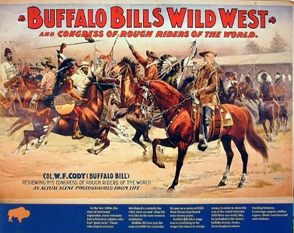 Vintage Wild West Buffalo Bill's Western Cowboy Horses Wall Decor Picture Art Print Poster (16x20) (Vintage Cowboy Decor compare prices)