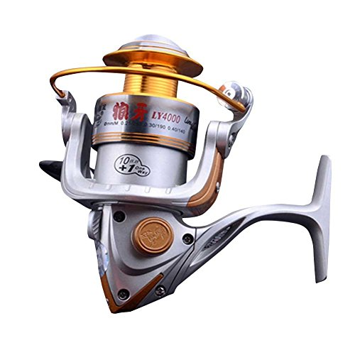 Winbest Alloy Fishing Silver Baitcasting Spinning Reel LY4000(4000 Series) (Open Face Catfish Reels compare prices)
