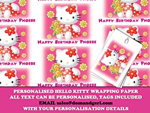 Personalized Wrapping Paper Hello Kitty