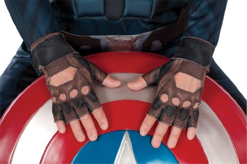 Captain America: The Winter Soldier Stealth Suit Costume Gloves, Child Size