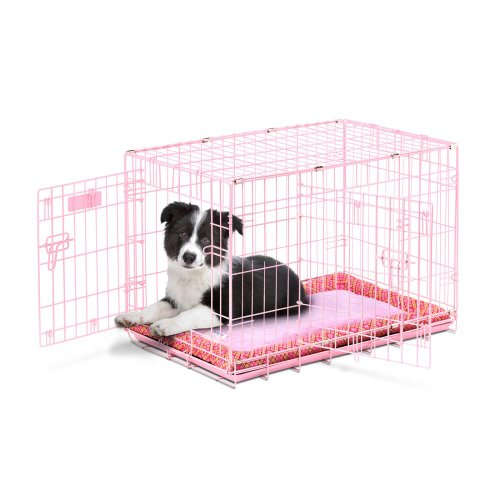 Precision Pet Products Snoozzy Baby 30 In. Crate Starter Kit Prepack, Pink, Wire, 30L X 19W X 21H In. front-932256