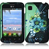 HR Wireless Rubberized Design Case for LG Optimus Dynamic II LG39C L39C - Retail Packaging - Sublime Flower by HRWireless