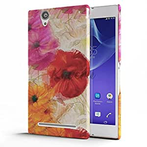 Koveru Back Cover Case for SONY XPERIA T2 Ultra - Flower Painting