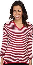 Calvin Klein Women's Striped Hood Sweater