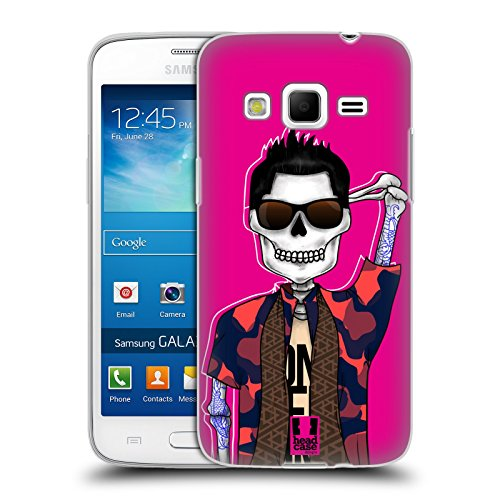 Head Case Designs Tattooed Hunk Swank Skulls Soft Gel Back Case Cover for Samsung Galaxy Express 2 G3815