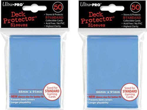 (100x) Ultra PRO Light Blue Deck Protectors Sleeves Standard MTG Colors