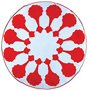 How To Make A Round Throw Pillow Cover : Amazon.com - John Robshaw Roti Round Decorative Pillow Cover - Throw Pillow Covers