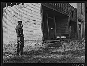 Photo: Old storekeeper,abandoned store in near ghost town. Shaw,Kansas