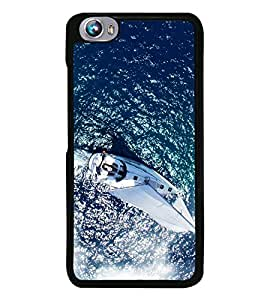 Boat in the Sea 2D Hard Polycarbonate Designer Back Case Cover for Micromax Canvas Fire 4 A107