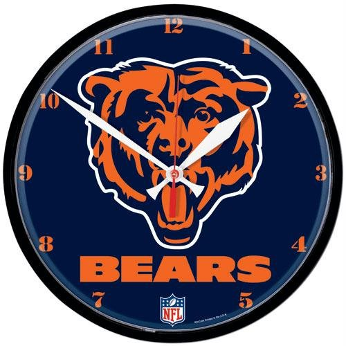Chicago Bears NFL Round Wall Clock