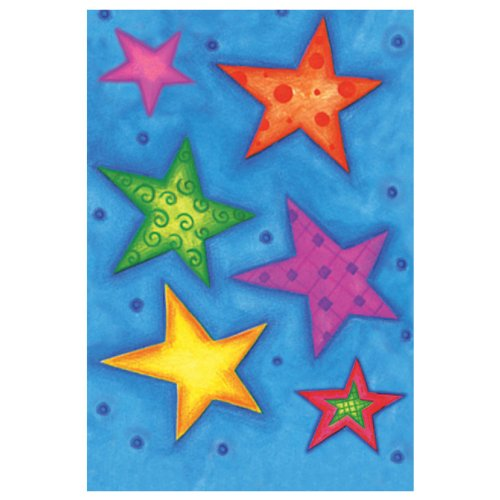 Jillson Roberts Recycled Gift Enclosure Cards, Star Bright, 12-Count (EC493)
