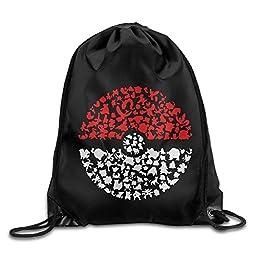 LOKIKA Pocket Monster Pokemon Sackpack Team Training Gymsack
