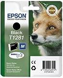1x Original Druckerpatrone - Ersatz für C13T12814010 - Schwarz - für Epson Stylus SX125 SX420W SX425W S22 SX235W SX130 SX435W SX445W Office BX305F BX305FW
