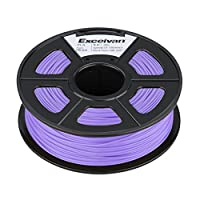 Excelvan 1.75mm PLA 3D Printer Filament - 1kg Spool (2.2 lbs) - Dimensional Accuracy +/- 0.02mm - Multi Colors Available (Purple) by Excelvan
