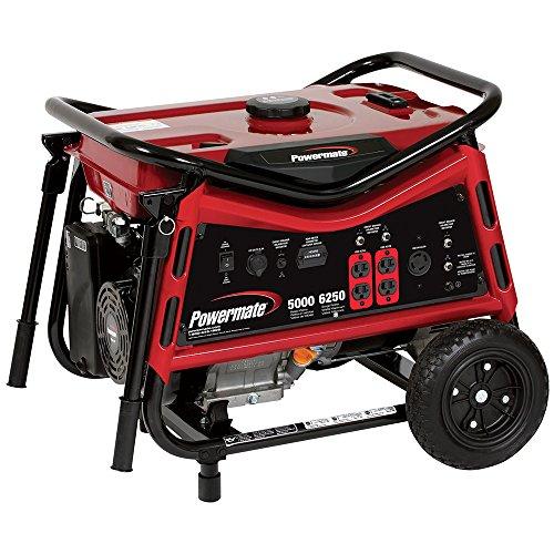 Powermate PMC105007, 5000 Running Watts/6250 Starting Watts, Gas Powered Portable Generator (Powermate Portable Generator compare prices)