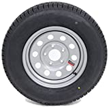 eCustomRim Trailer Tire On Rim 60210 ST185/80R13C 1480 Lb. 13X4.5 5-4.5 Modular Silver