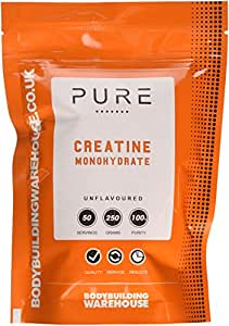 Bodybuilding Warehouse 250 g Unflavoured Pure Creatine Monohydrate Powder