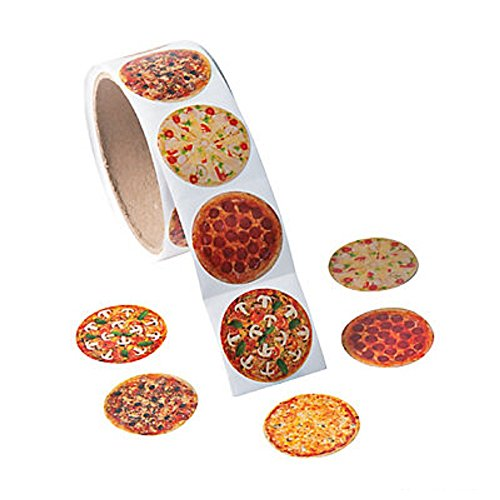 1-roll-photo-pizza-stickers-100-round-15-paper-stickers-new-shrink-wrapped