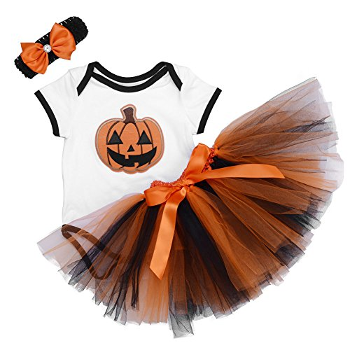 ANDI ROSE Baby-Girls Halloween TUTU Dress|Baby baby girls bodysuit|Hat Hairpin(3pcs)