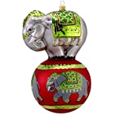 David Strand Kurt Adler Glass Trunk Show Parade Ornament, 7.7-Inch