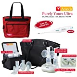 Ameda Purely Yours Ultra Breast Pump with Diaper Bag and Omron Thermometer