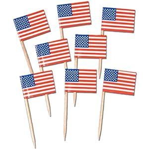 Pkgd U S Flag Picks Party Accessory (1 count) (50/Pkg)