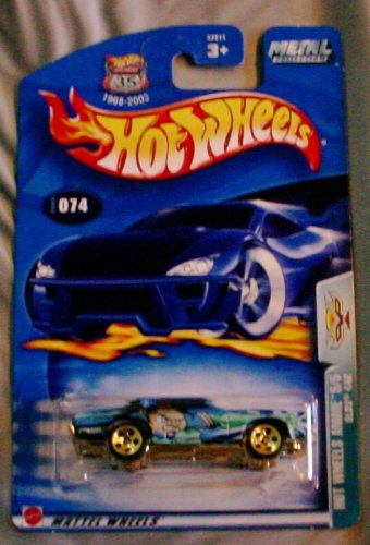 Hot Wheels 2003 Anime Series Olds 442 5/5 BLUE #074 #74 1:64 Scale - 1