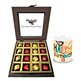 Rich Treat Of Wrapped Chocolates And Truffles With Birthday Mug - Chocholik Luxury Chocolates