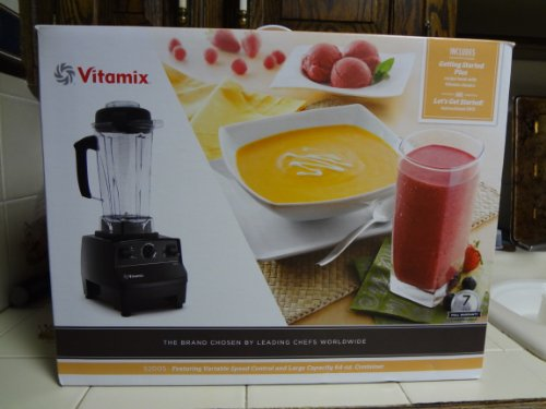 Vitamix 5200S - 7 YR WARRANTY Variable Speed Countertop Blender with 2+ HP Motor and 64-Ounce Jar Black