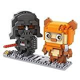 Star Wars Super Heroes Building Blocks - 12 Character Micro Nano Diamond Minifigure Brick Set - Kids Toys Gift DIY Assemble (Darth Vader, Luke Skywalker, Princess Leia, R2D2, C3PO, Storm Trooper, X Wing, Yoda, Ewok, Jedi and Sith)