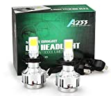 【e-auto fun】車用LEDヘッドライト アマゾン限定発売! 新しいモデル 単面設計 H4 12V/33W 3000ルーメン LEDバルブ 1年保証