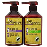 Savannah shea butter Shampoo and Conditioner duo set 16.9 oz with Free Gift