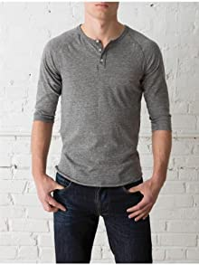 Men's 3/4-Sleeve Raglan Henley